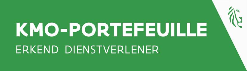 logo KMO-portefeuille erkend dienstverlener